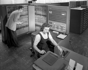 Lisp was originally implemented on an IBM 704. By NASA (Great Images in NASA Description) [Public domain], via Wikimedia Commons.