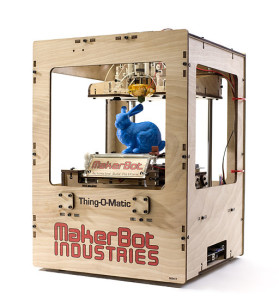 The first MakerBot kit in a laser cut case.