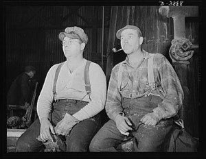 Open hearth workers taking a break. They were some of the best paid blue collar worker in the US. Library of Congress LC-USE6- D-003888.