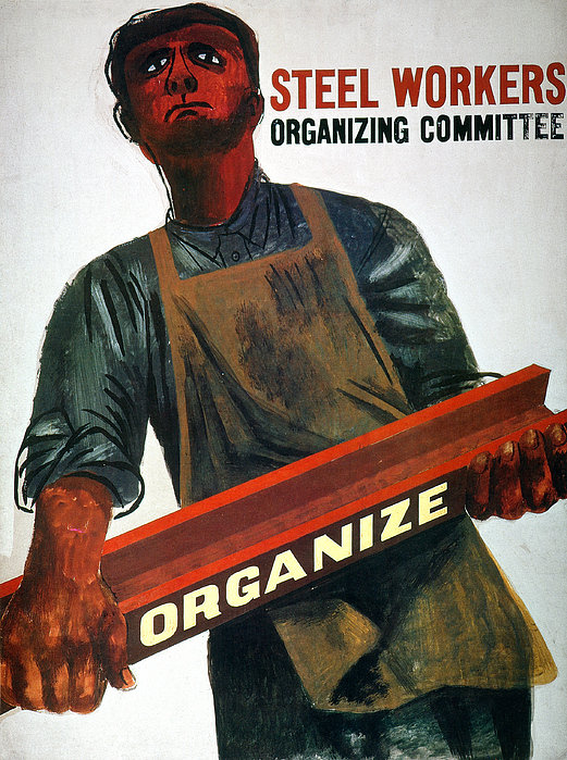 A union poster by Ben Shanh, 1930s. From Pinterest.